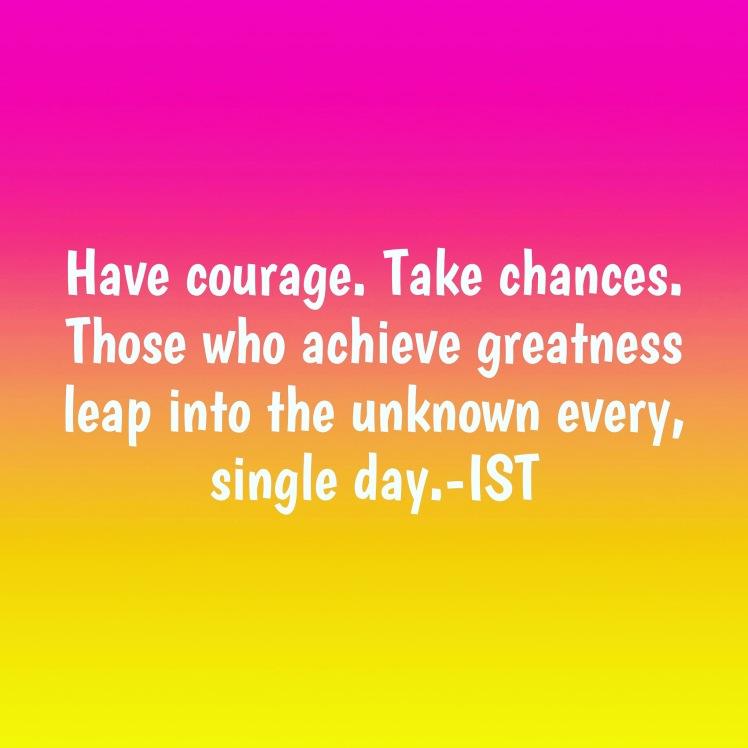 Take a leap of faith power words