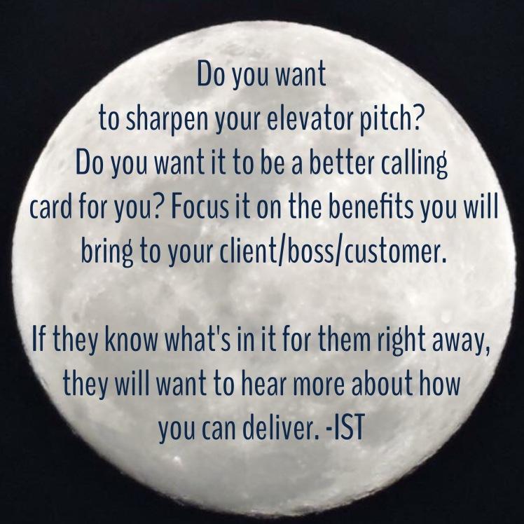 Elevator pitch  graphic